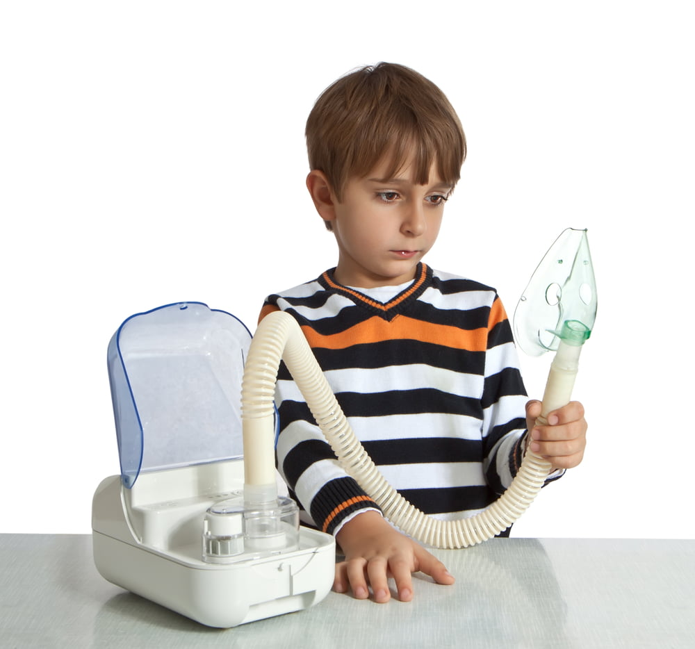 boy with nebuliser