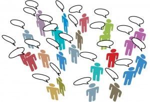 people meeting on social media