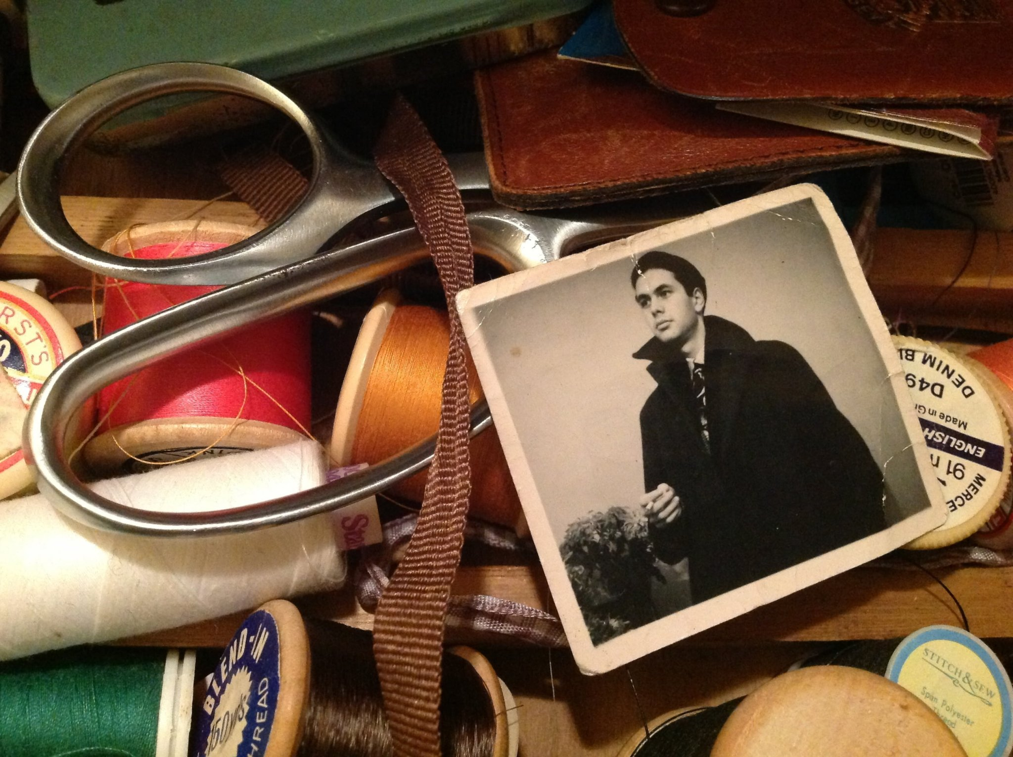 Photo in sewing box