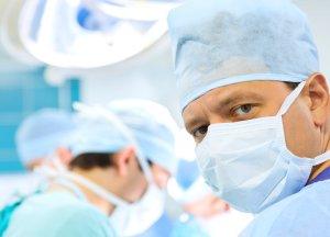 surgeon's face