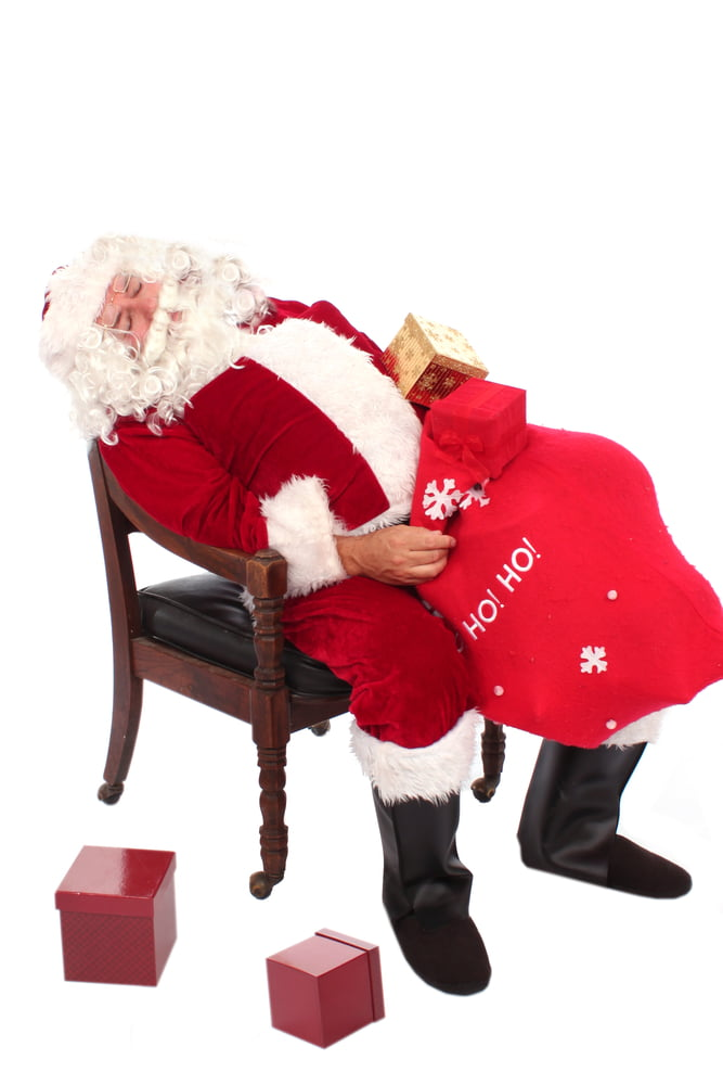 snoring Santa