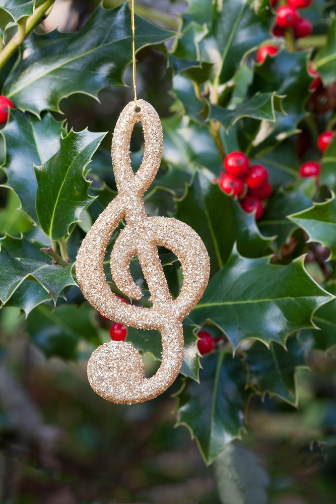 treble clef Christmas decoration