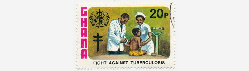 Postage stamp of 'fight against tuberculosis'