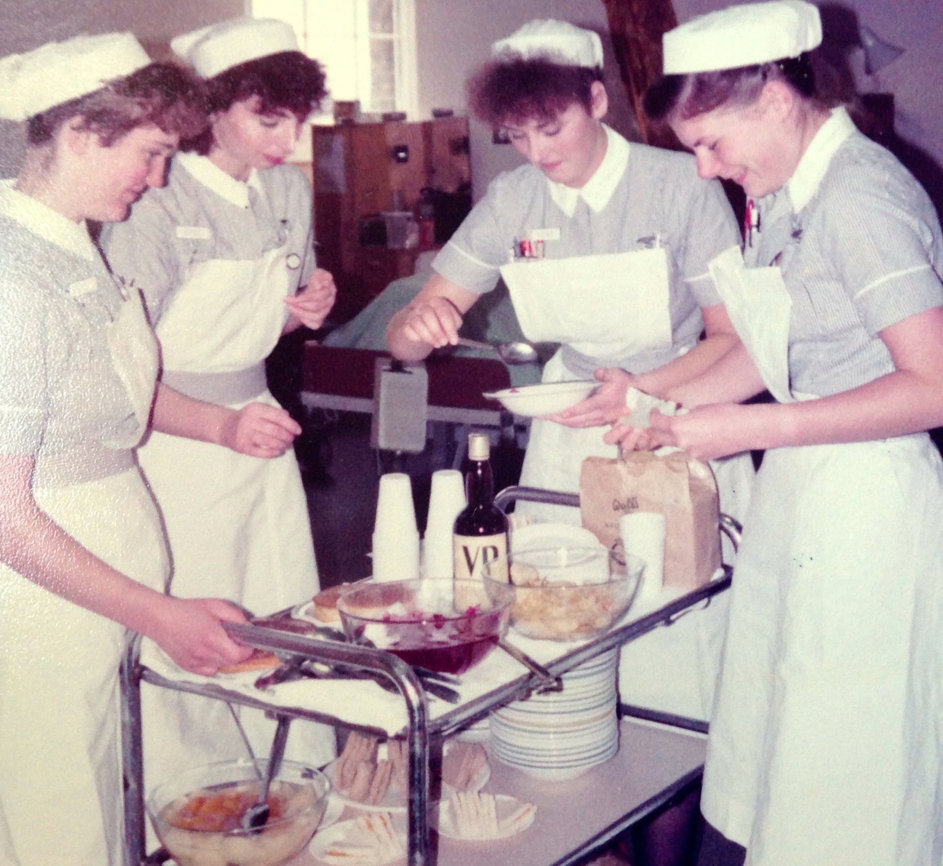 nurses with tea trolley
