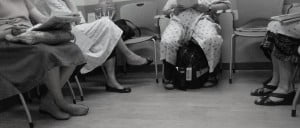 women in waiting room