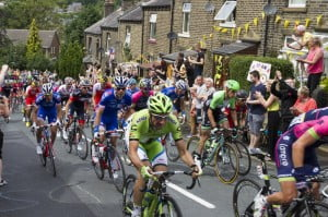 peloton, stage 2 of Le Tour de France 2014, Greetland, England