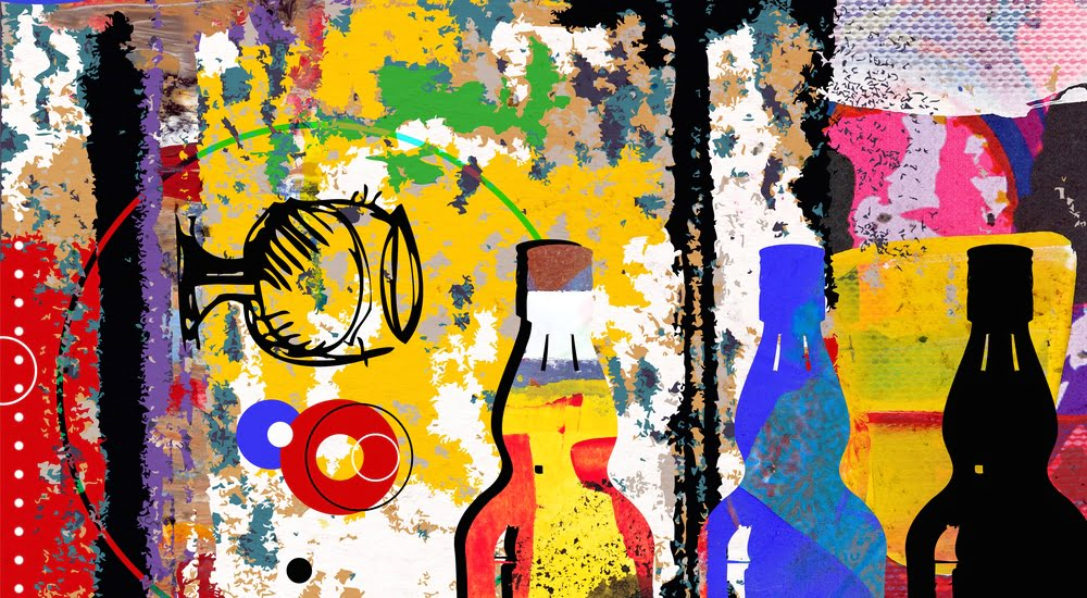 drinking collage