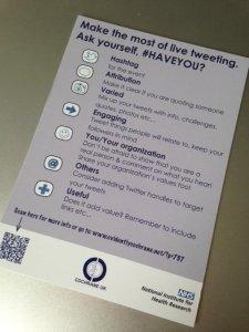 #HAVEYOU checklist