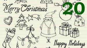 xmas scribbles