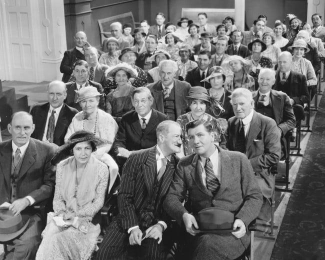 vintage theatre audience