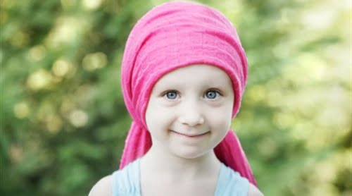 girl with brain cancer