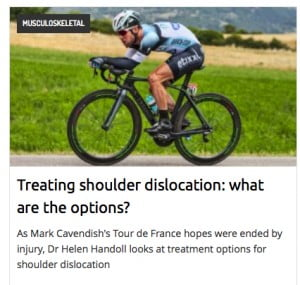 Blog on shoulder injury