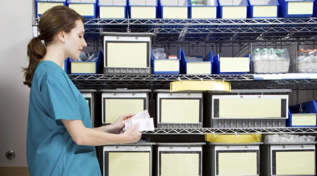 Nurse in Supply Room