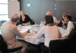 Discussions at the final workshop