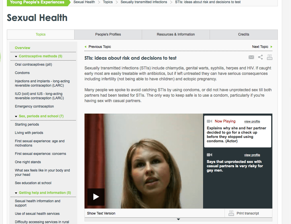healthtalk.org screenshot