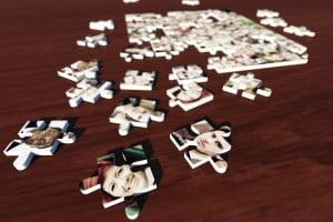 jigsaw pieces with faces
