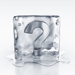 icecube with question mark symbol inside