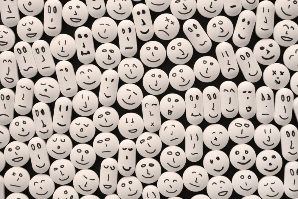 pills with faces