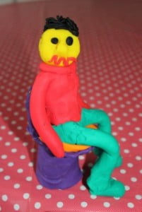 PlayDoh man on toilet 1