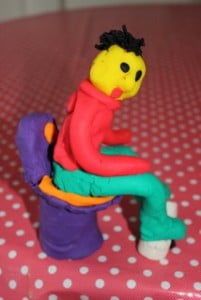 PlayDoh man on toilet 2