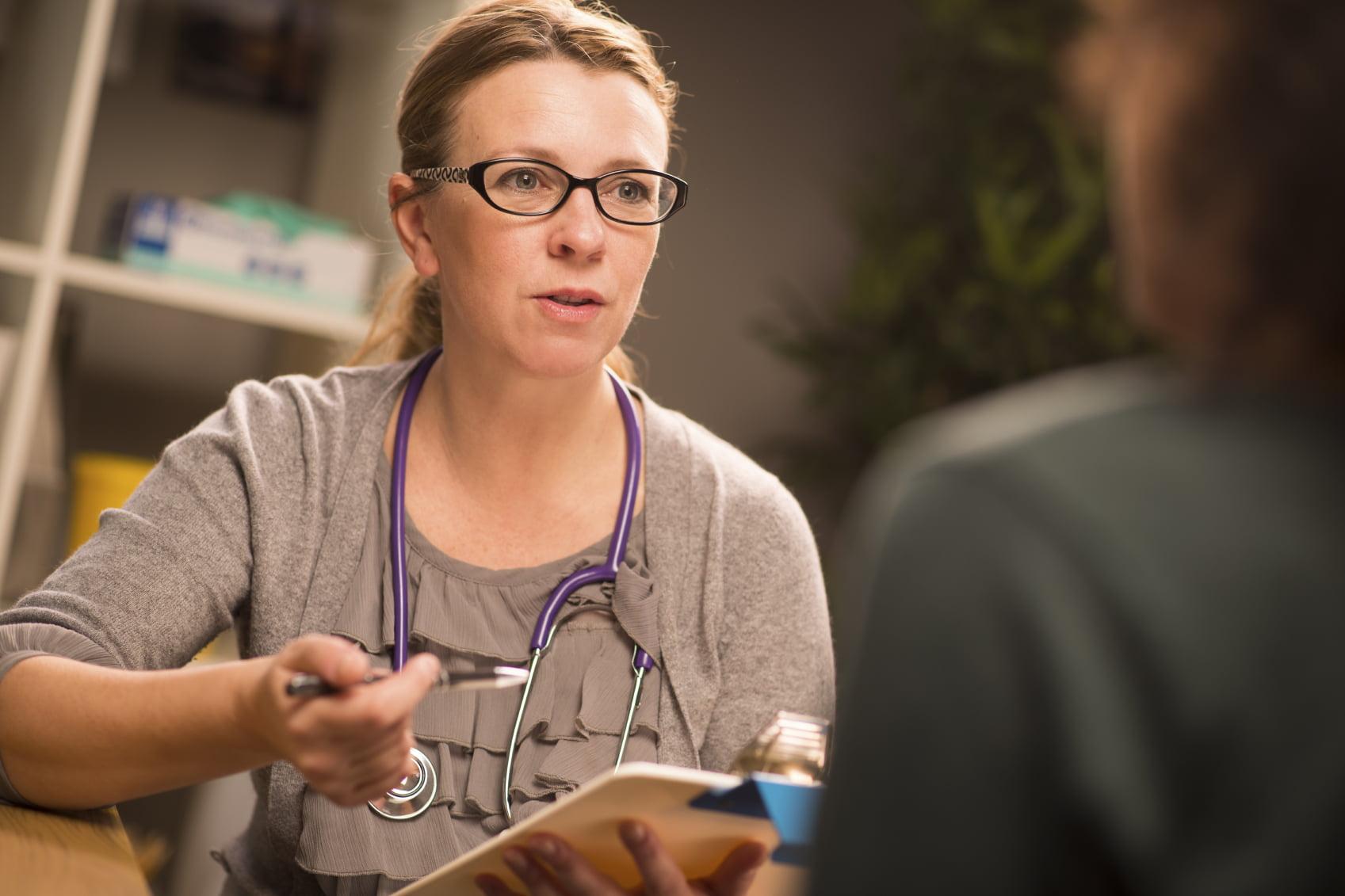 Female doctor explaining