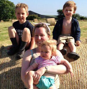 Caitlin Dean and her children