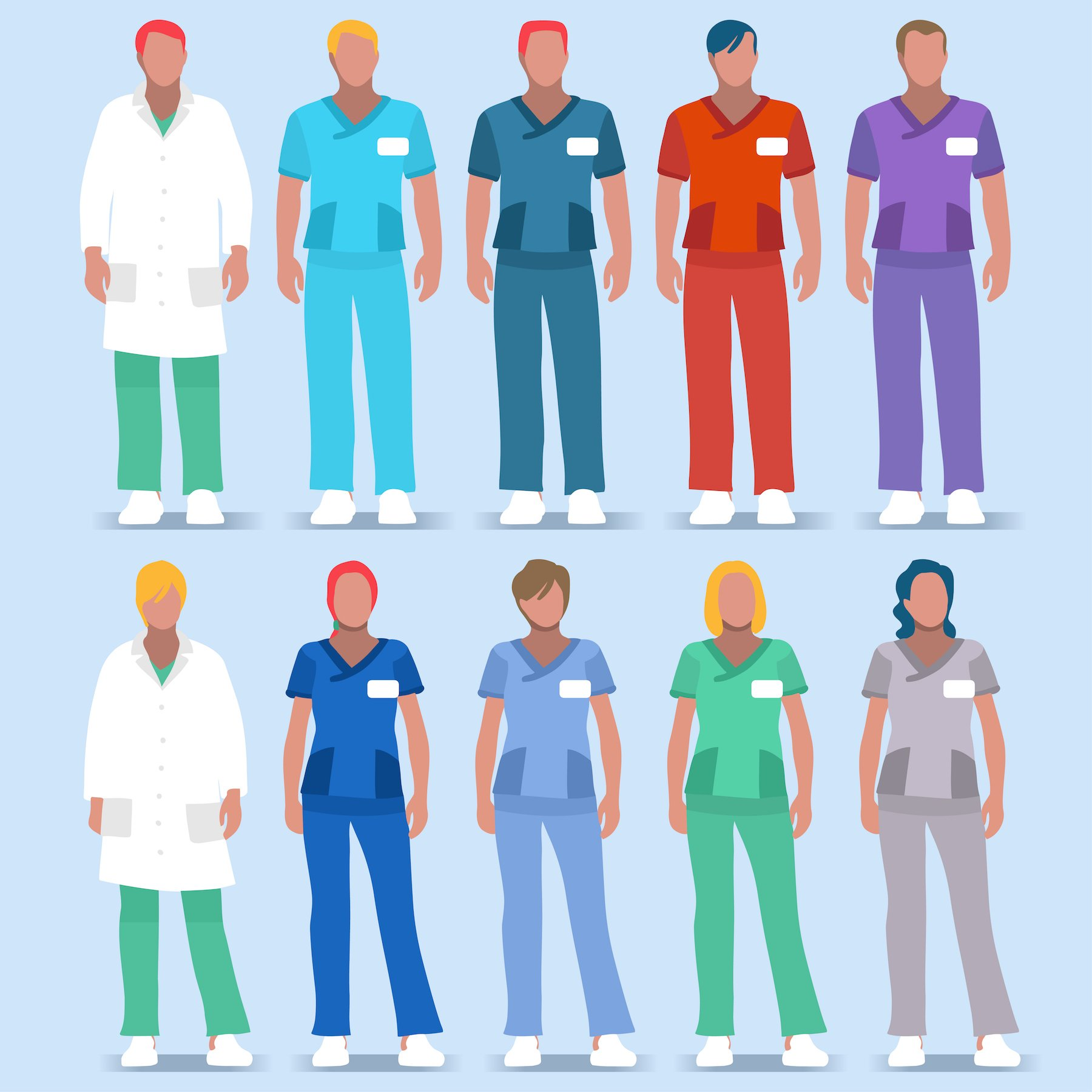 Allied Health Professions: Hospital 01 People 2D