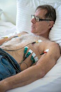 Senior Man Getting ECG