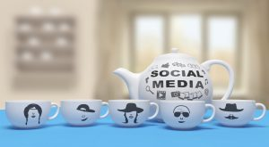 Social media cups teapot tweetchat