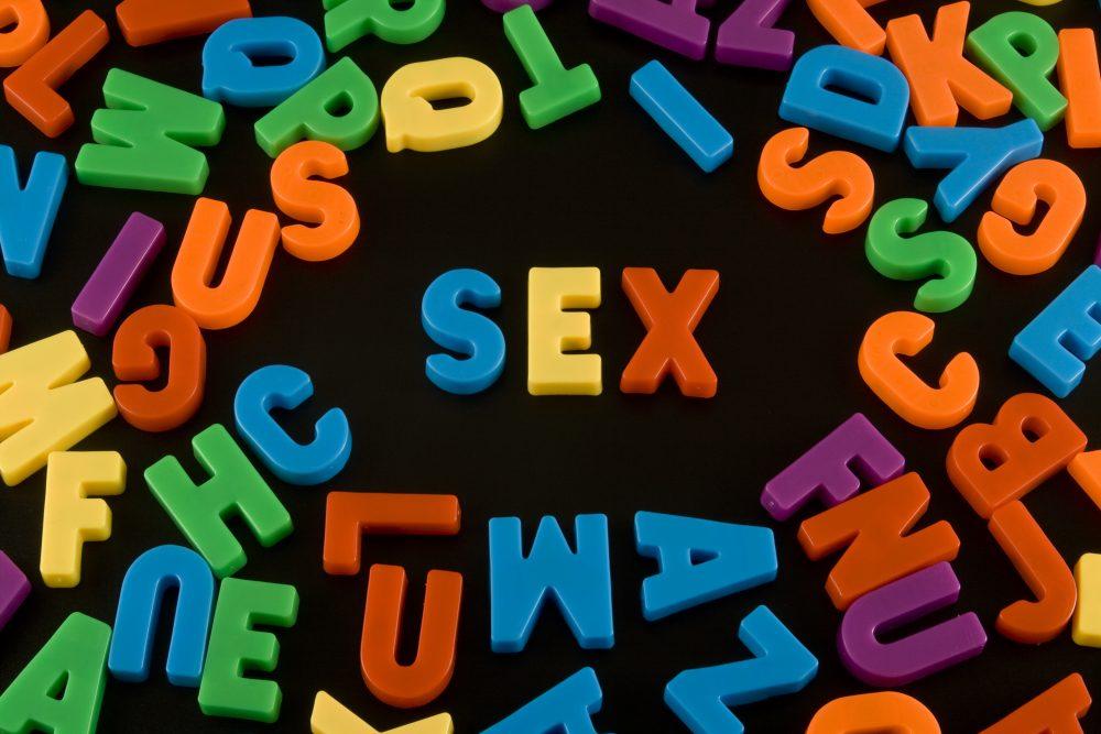 Sex spelt in magnetic letters