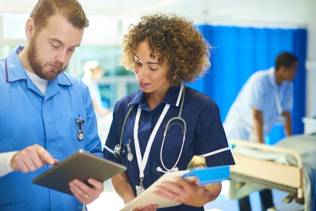 nurses discussion on ward