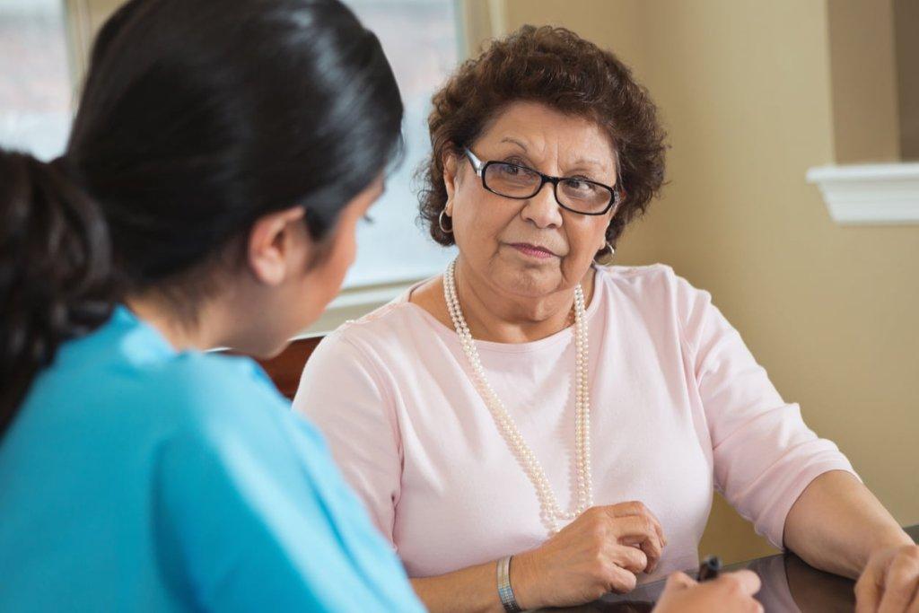 Discussing intermittent catheterisation