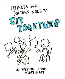 Doctors and patients need to sit together to work out their healthcare