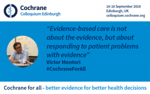 Evidence-based care is not about the evidence, but about responding to patient problems with evidence - Victor Montori