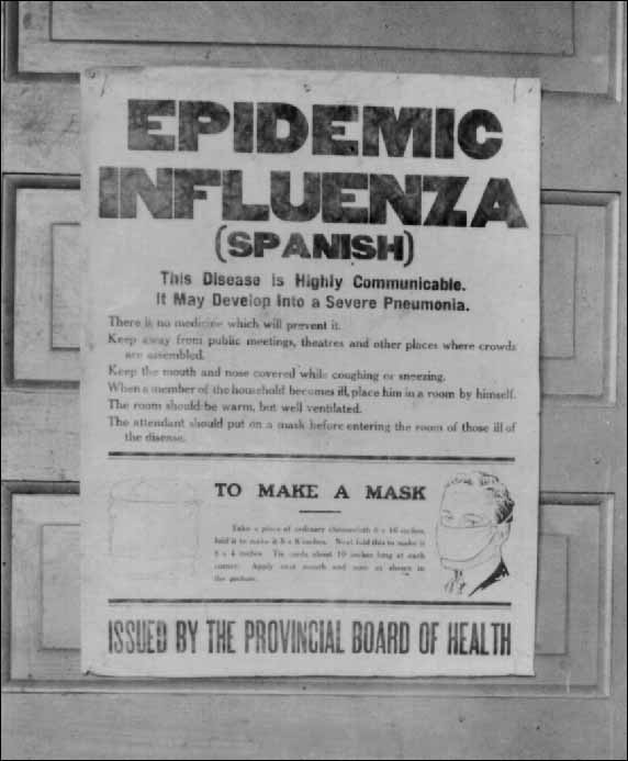 influenza poster 1918