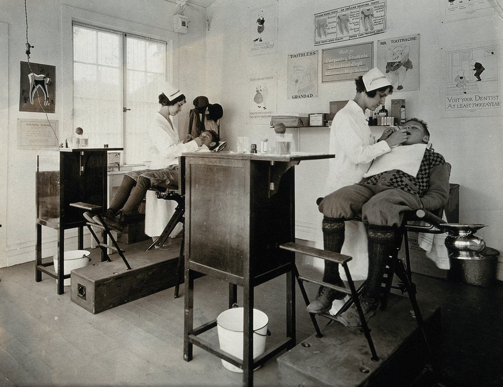 US dental clinic, circa 1920