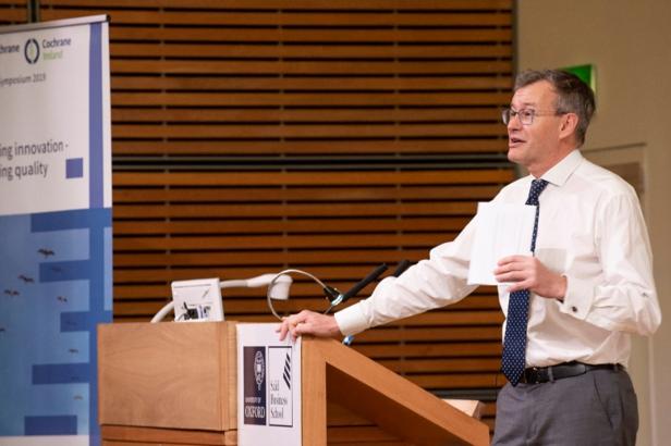 Martin Burton presenting at the symposium