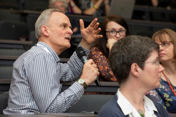 Dr Kit Byatt asking a question