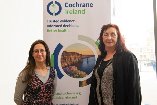 Cochrane Ireland trainers Dr Linda Biesty (National University of Ireland Galway) and Dr Pauline Meskell (University of Limerick)