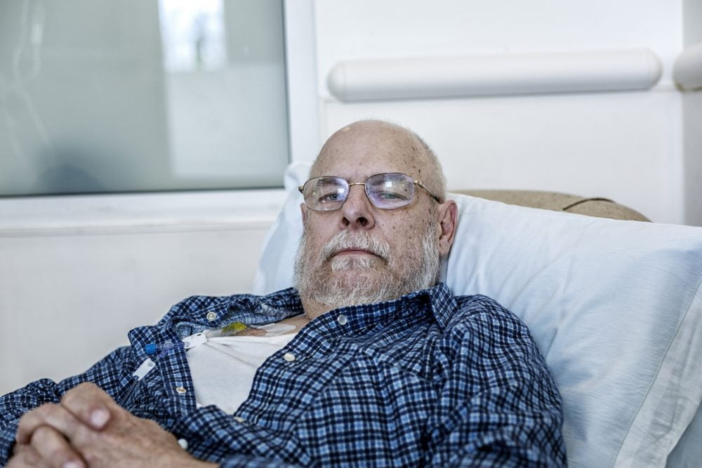 Senior Adult Man Cancer Chemotherapy Patient