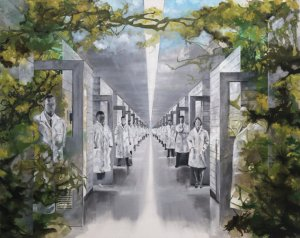 artwork of a hospital