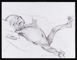 drawing of preterm baby