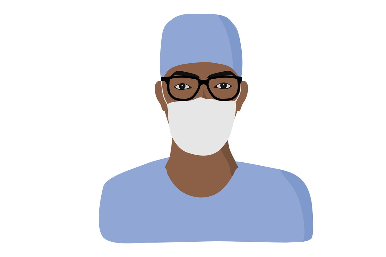 male allied health worker, graphic